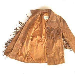 beautiful Scully fringe suede jacket Medium
